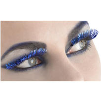 Blue Tinsel Eyelashes