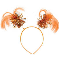 Orange Ponytail Head Bopper 8in