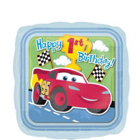 Foil 1st Birthday Cars Happy Birthday Balloon 18in