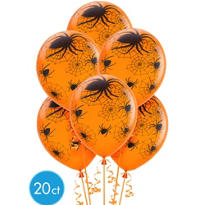 Spider Web Latex Balloons 20ct