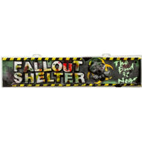 Vacuform Doomsday Fallout Shelter Sign 42in