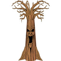 Haunted Tree Cardboard Cutout 102in
