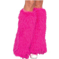 Adult Hot Pink Furry Leg Warmers