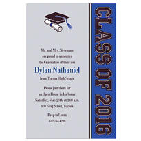Custom Colorblock Class Stripe Graduation Invitations