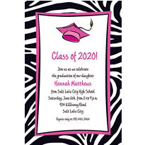 Custom Cute Grad Girl Graduation Invitations