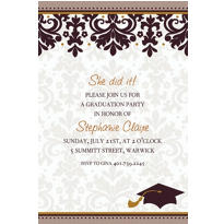 Black & White Custom Graduation Invitation
