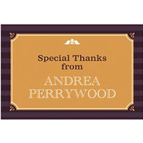 Classic Block Image with Year Custom Thank You Notes