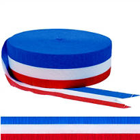 Red, White & Blue Crepe Streamer 500ft