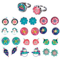 Christmas Earring and Ring Set 14pc
