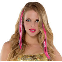 Pink Hair Extensions 15in 2ct