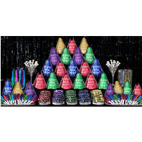 Multicolor Fantasy New Years <span class=messagesale><br><b>Party Kit For 100</b></br></span>