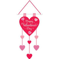 Felt Valentines Day Hanging Decoration 22in