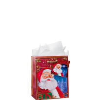 Small Santa Gift Bags 5 1/2in 12ct
