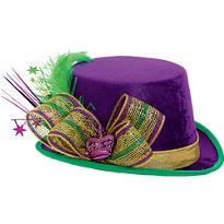 Mardi Gras Top Hat Deluxe