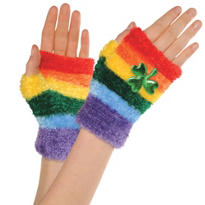 St. Patricks Day Rainbow Glovelettes