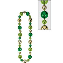 St. Patricks Day Jumbo Bead Necklace 46in
