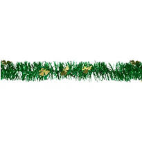 Gold and Green Tinsel Garland 9ft