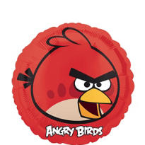 Foil Angry Birds Red Balloon 18in