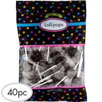 Black Lollipops 48pc