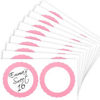 Light Pink Favor Sticker Labels 20ct