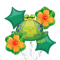 Foil Giant Bullfrog Balloon Bouquet 5pc