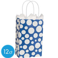 Blue Dot Mini Gift Bag 12ct