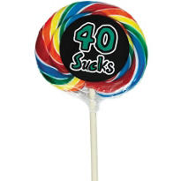 40 Sucks 40th Birthday Lollipop
