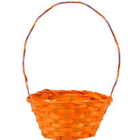 Orange Round Easter Basket