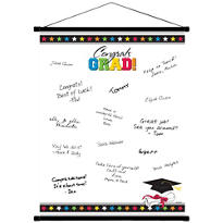 Multicolor Graduation Autograph Scroll 23in x 18in