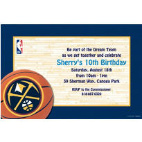 Denver Nuggets Custom Invitation