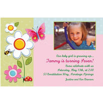 Garden Girl Custom Photo Invitation