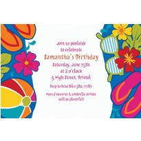 Summer Splash Custom Invitation