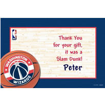 Washington Wizards Custom Thank You Note