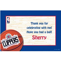 Los Angeles Clippers Custom Thank You Note