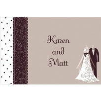 Black & White Custom Wedding Thank You Note