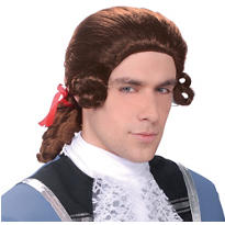 Men's Brown Colonial Wig