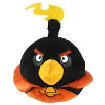 Angry Birds Space Black Bird Plush with Sound