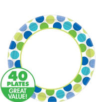 Blue Dots Lunch Plates 40ct