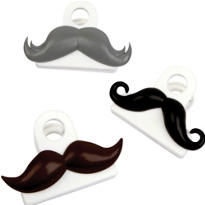 Moustache Bag Clips 3pc