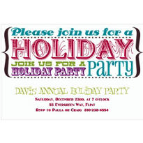 Holiday Party Text Custom Invitation