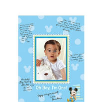 1st Birthday Mickey Mouse Autograph Mat