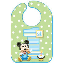 Mickey Mouse 1st Birthday Bib