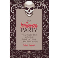 Fright Night Halloween Custom Invitation