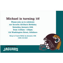 Jacksonville Jaguars Custom Invitation