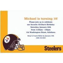 Pittsburgh Steelers Custom Invitation