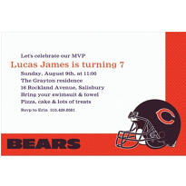 Chicago Bears Custom Invitation