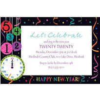 Wild New Year Custom Invitation