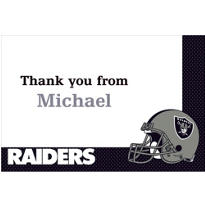 Oakland Raiders Custom Thank You Note
