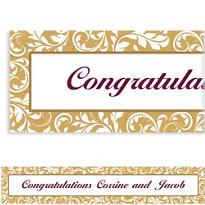 Golden Custom Wedding Banner
