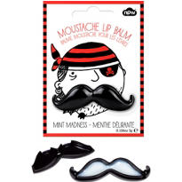 Black Moustache Lip Balm